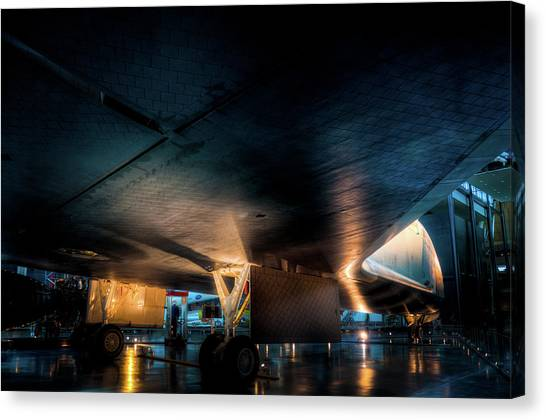 Belly Of The Shuttle Canvas Print