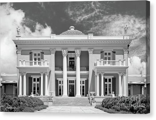 Liberal Canvas Print - Belmont University Belmont Mansion by University Icons