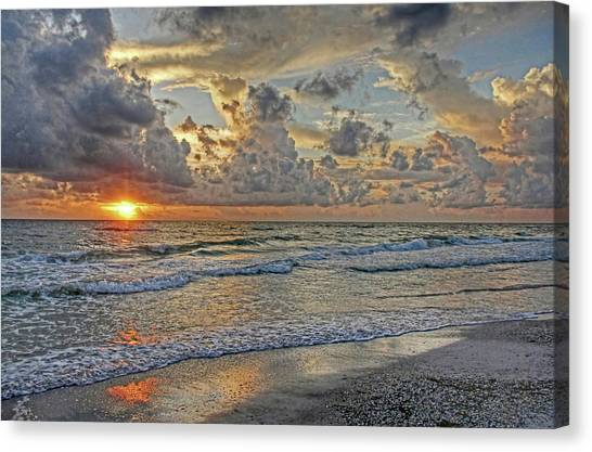 Tropical Sunset Canvas Print - Beloved - Florida Sunset by HH Photography of Florida