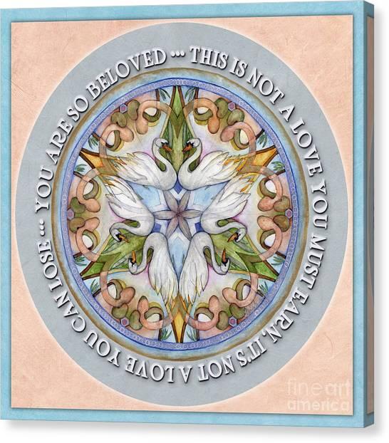 Beloved Mandala Prayer Canvas Print