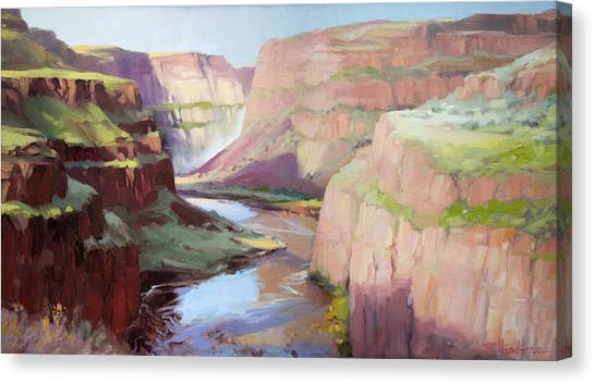 Tourist Canvas Print - Below Palouse Falls by Steve Henderson