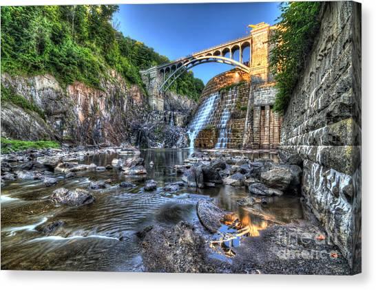 Below The Dam Canvas Print
