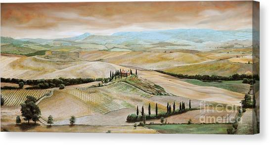 Rolling Hills Canvas Print - Belvedere - Tuscany by Trevor Neal