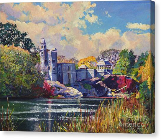 Castle Canvas Print - Belvedere Castle Central Park by David Lloyd Glover