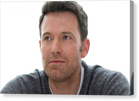 Ben Affleck Canvas Print - Ben Affleck by Jackie Russo