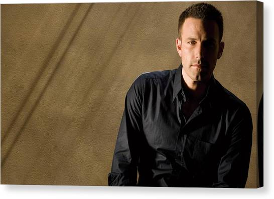 Ben Affleck Canvas Print - Ben Affleck by Maye Loeser