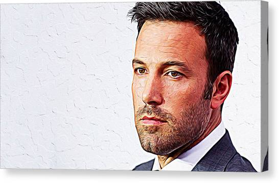 Ben Affleck Canvas Print - Ben Affleck by Queso Espinosa