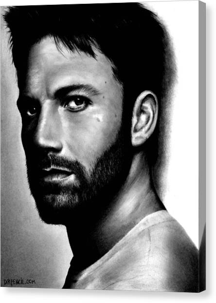 Ben Affleck Canvas Print - Ben Affleck by Rick Fortson