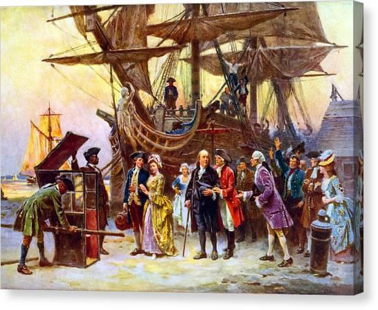 Revolutionary War Canvas Print - Ben Franklin Returns To Philadelphia by War Is Hell Store