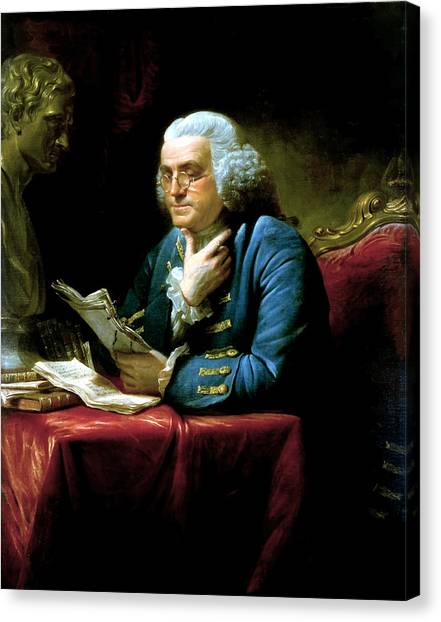 American Canvas Print - Ben Franklin by War Is Hell Store