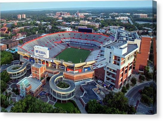 University Of Florida Canvas Print - Ben Hill Griffin Stadium - Home Of The U Of Florida Gators Football Team by Daniel Hagerman