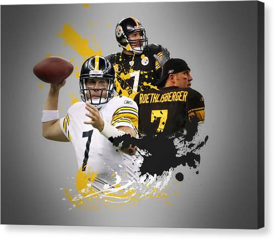 Pittsburgh Steelers Canvas Print - Ben Roethisberger Steelers by Joe Hamilton