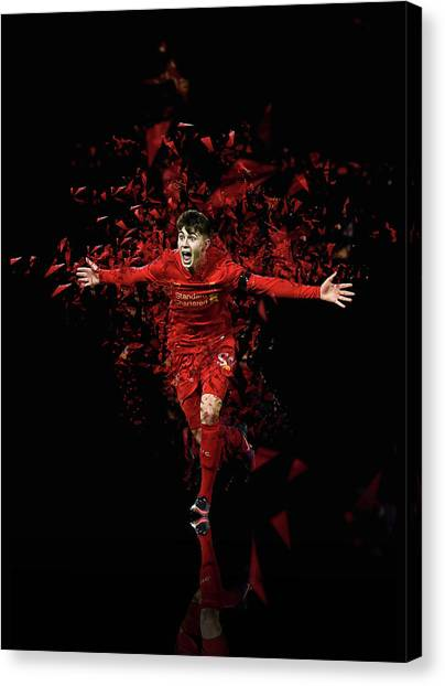 Liverpool Fc Canvas Print - Ben Woodburn Liverpool Fc by Bryan Dermody