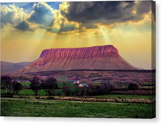Benbulben In Co. Sligo Ireland Canvas Print