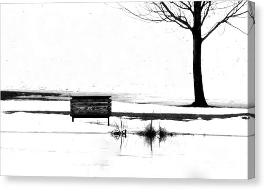 Bench 10 Canvas Print by Julie Lueders