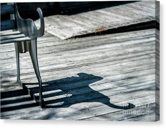 Bench Shadow Canvas Print