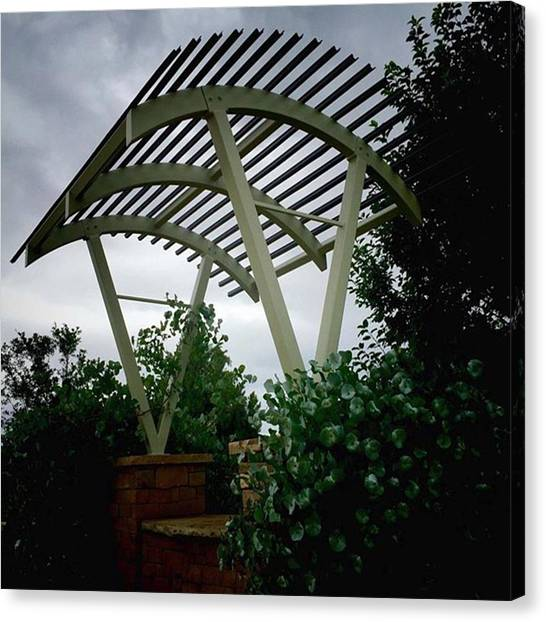 Arbor Canvas Print - #bench #trellis #arbor At #montrose by Ron Meiners
