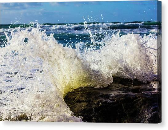 Wave Bending Backwards Canvas Print