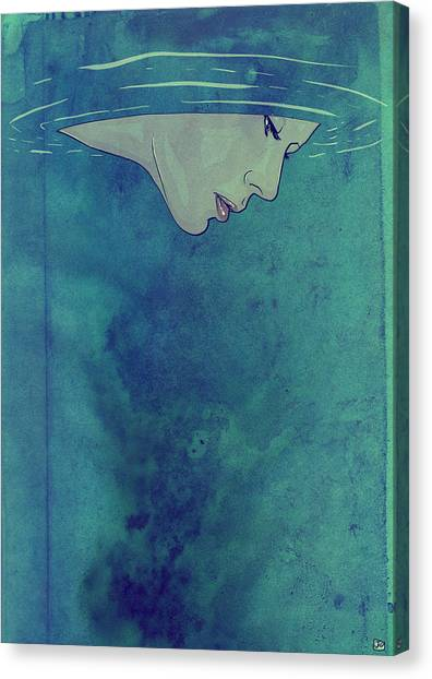 Underwater Canvas Print - Beneath by Giuseppe Cristiano