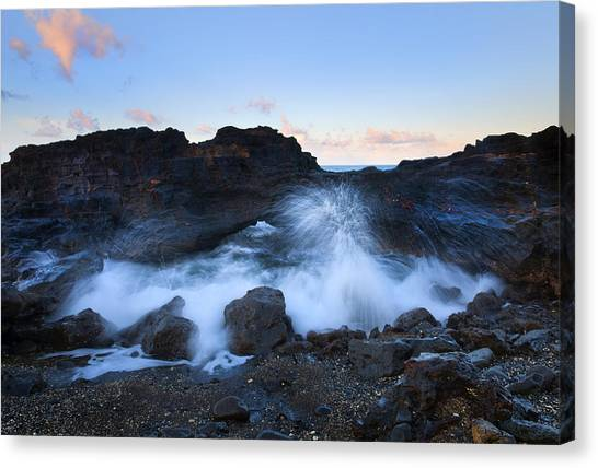 Lava Canvas Print - Beneath The Arch by Mike  Dawson