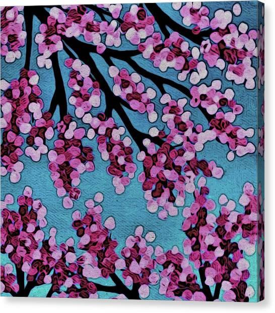 Beneath The Cherry Canvas Print