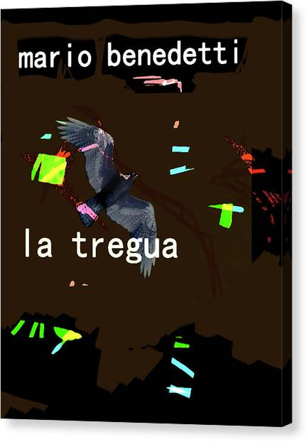 Imaginary Worlds Canvas Print - Benedetti Truce/tregua Poster  by Paul Sutcliffe