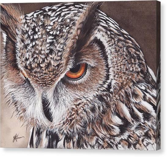 Bengal Eagle Owl Canvas Print