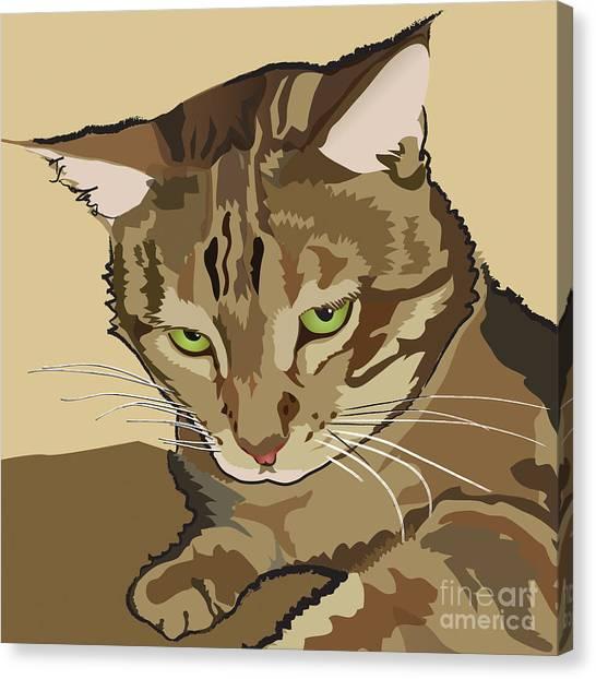 Bengal Kitty Pet Portrait Canvas Print