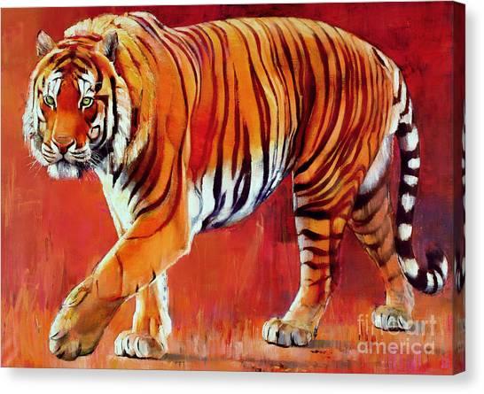 Bengals Canvas Print - Bengal Tiger  by Mark Adlington