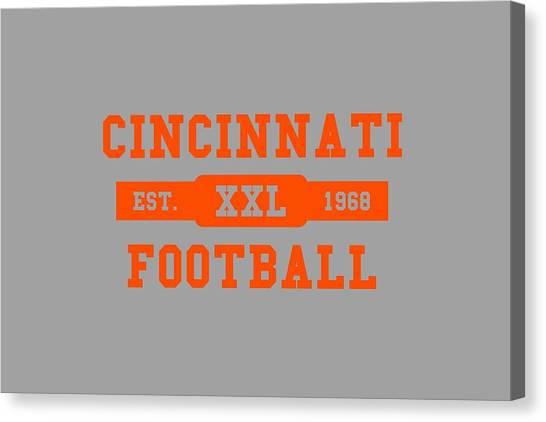 Cincinnati Bengals Canvas Print - Bengals Retro Shirt by Joe Hamilton