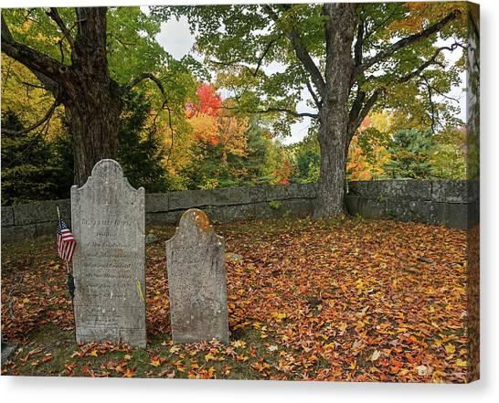 Benjamin Butler Grave Canvas Print