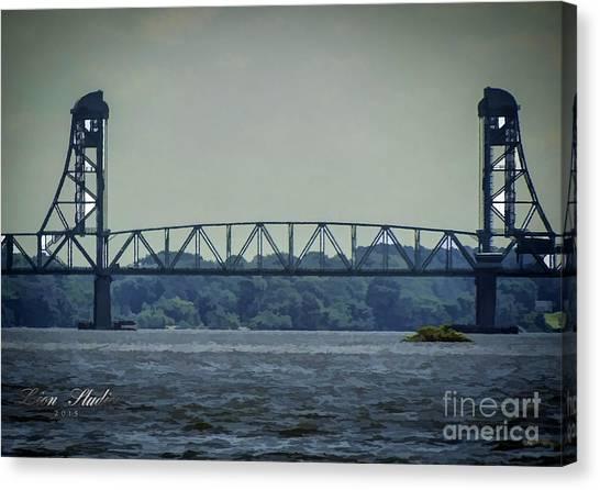 Benjamin Harrison Memorial Draw Bridge Canvas Print