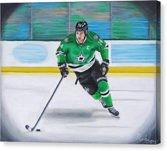 Dallas Stars Canvas Print - Benn And The Art by Mark Lopez