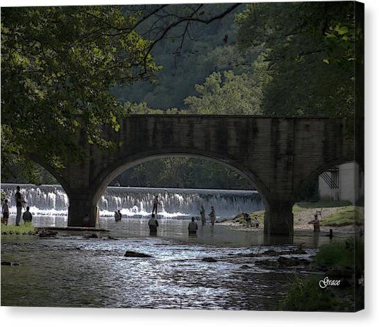 Bennett Springs Bridge Canvas Print