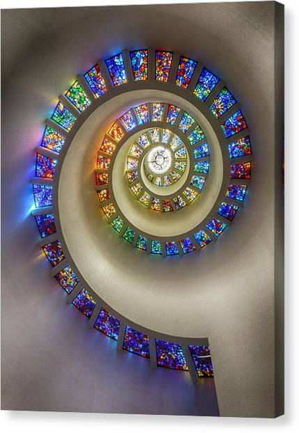 Glass Art Canvas Print - Bent Toward The Divine by Stephen Stookey