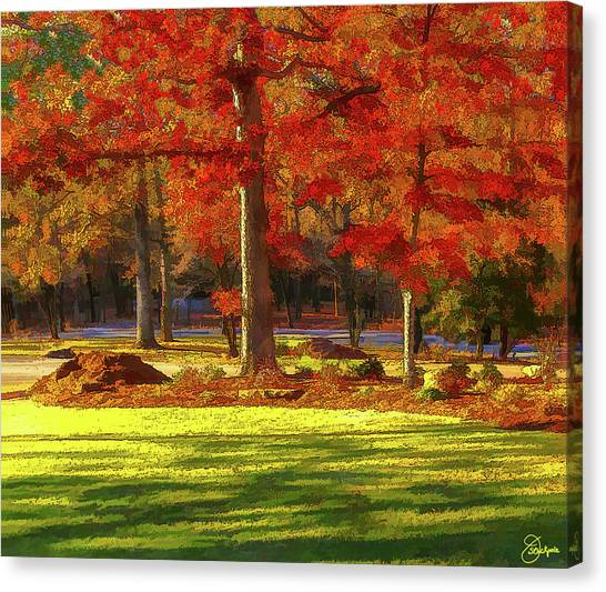 Tennis Pros Canvas Print - Bent Tree Golf Community In The Fall by Jennifer Stackpole