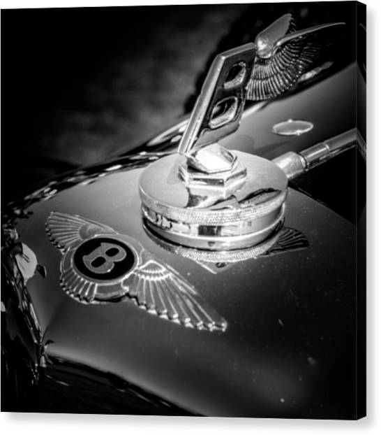 Canvas Print featuring the photograph Bentley Hood Ornament by Samuel M Purvis III