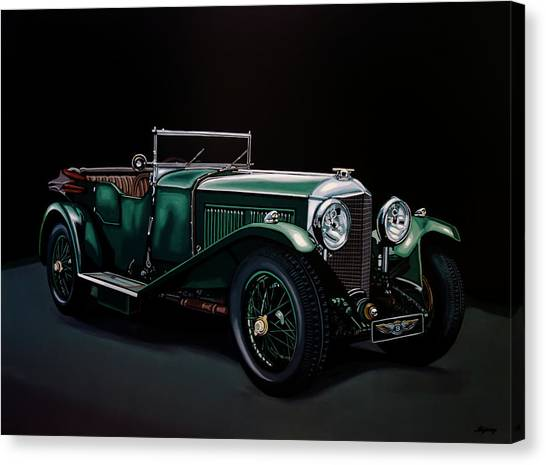 Open Canvas Print - Bentley Open Tourer 1929 Painting by Paul Meijering