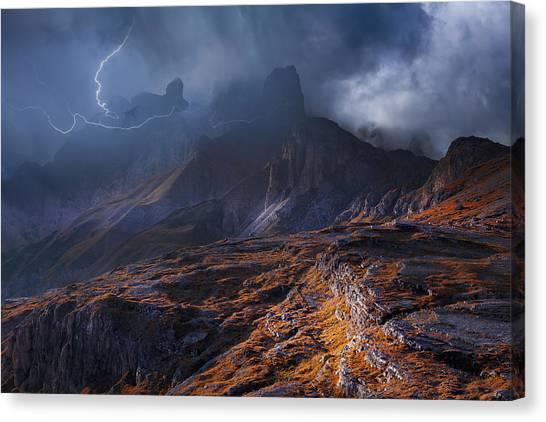Thunderstorms Canvas Print - Bergwetter by Franz Schumacher