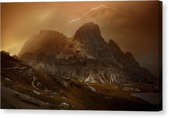 Alps Canvas Print - Bergwetter_01 by Franz Schumacher