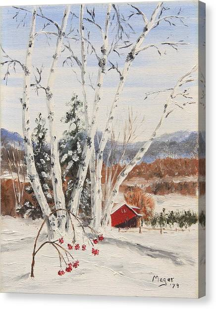 Berkshire Winter II Canvas Print