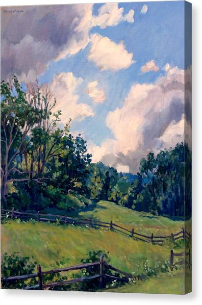 Berkshires Backlight Canvas Print