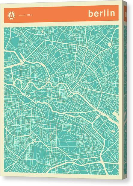 Berlin Canvas Print - Berlin Street Map by Jazzberry Blue