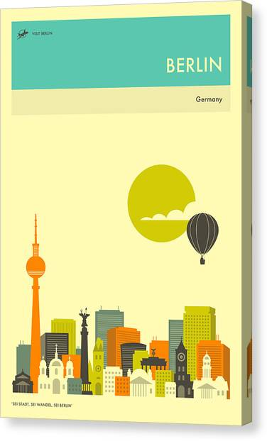 Berlin Canvas Print - Berlin Travel Poster by Jazzberry Blue