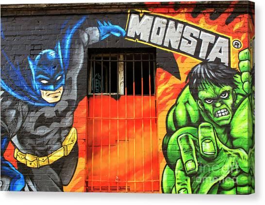 Berlin Wall Monsta Door Canvas Print by John Rizzuto