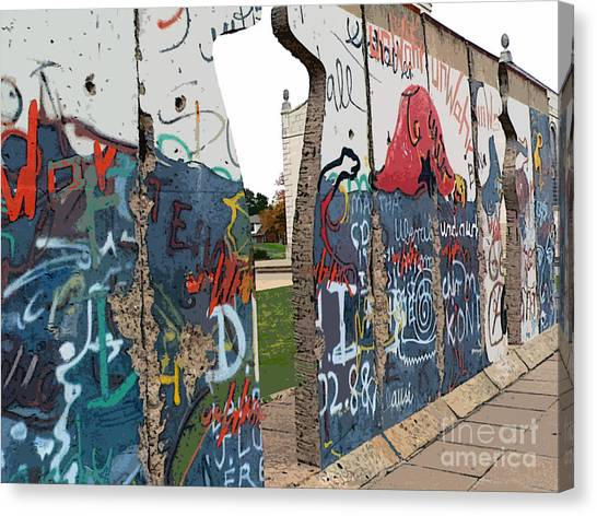 Berlin Wall Canvas Print   Berlin Wall Section At Westminster College By  David Bearden