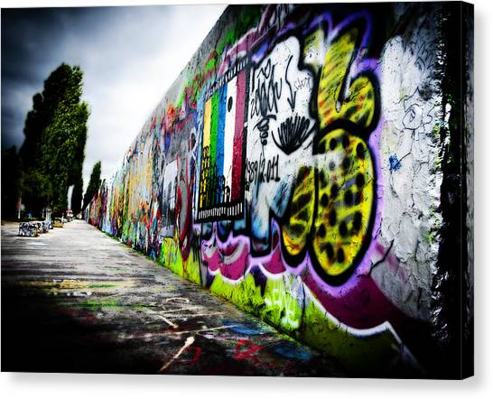 Graffiti Walls Canvas Print - Berlin Wall by Thomas Kessler