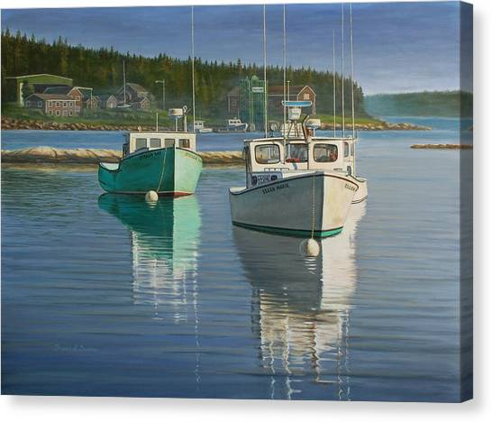 Bernard Harbor Canvas Print by Bruce Dumas