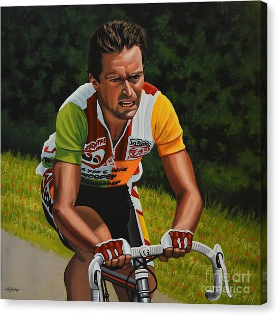 Tour De France Canvas Print - Bernard Hinault by Paul Meijering