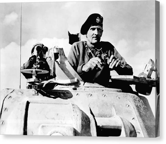 Law Canvas Print - Bernard Law Montgomery by War Is Hell Store